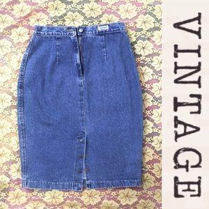 Vintage Skirts - Vintage Mom Jeans Skirt, 90s, 90210 Style